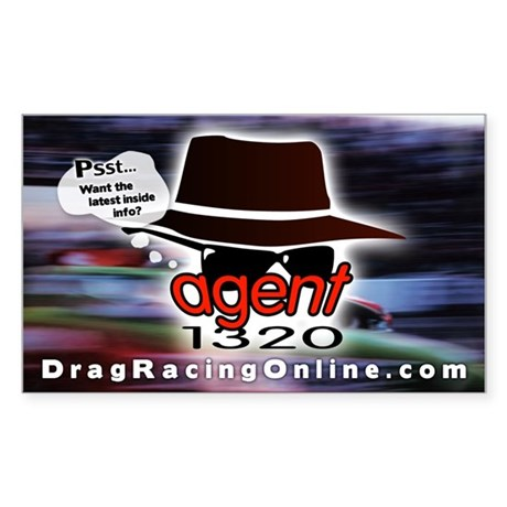 DRO Agent 1320 Rectangle Sticker
