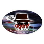 DRO Agent 1320 Oval Sticker