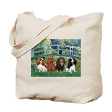 Bridge & 4 Cavaliers Tote Bag