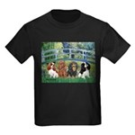 Bridge & 4 Cavaliers Kids Dark T-Shirt