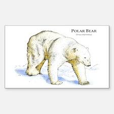 Polar Bear Rectangle Decal