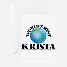 World's Best Krista Greeting Cards