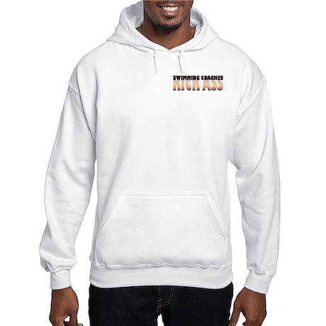 Swimming Coaches Kick Ass Hooded Sweatshirt