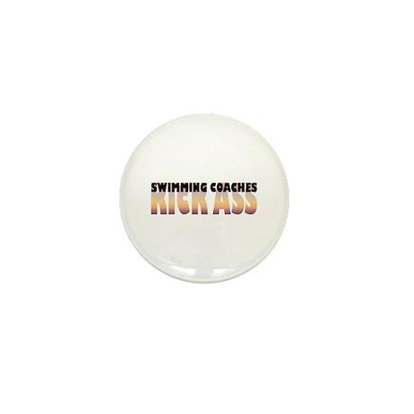 Swimming Coaches Kick Ass Mini Button (10 pack)