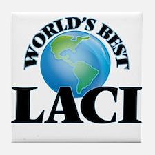 World's Best Laci Tile Coaster
