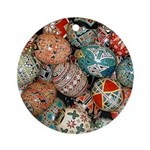 Pysanky Group 1 Ornament (round)