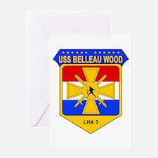 US Navy USS Belleau Wood LHA 3 Greeting Cards