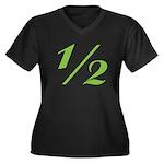 Better 1/2 Women's Plus Size V-Neck Dark T-Shirt