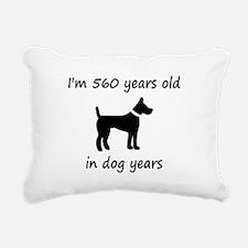 80 dog years black dog 1C Rectangular Canvas Pillo
