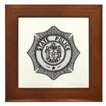 Maine State Police Framed Tile