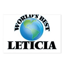World's Best Leticia Postcards (Package of 8)