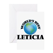 World's Best Leticia Greeting Cards