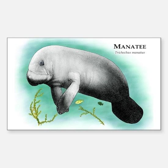 Manatee Rectangle Decal