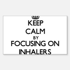 Keep Calm by focusing on Inhalers Decal