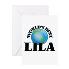 World's Best Lila Greeting Cards