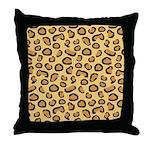 Leopard Spots Animal Skin Throw Pillow