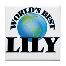 World's Best Lily Tile Coaster