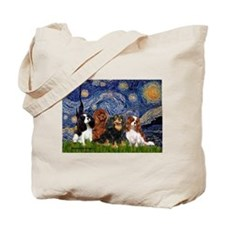 Starry / 4 Cavaliers Tote Bag