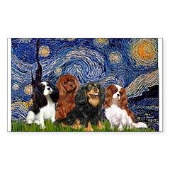 Starry / 4 Cavaliers Sticker (Rectangle)