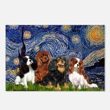 Starry / 4 Cavaliers Postcards (Package of 8)