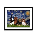 Starry / 4 Cavaliers Framed Panel Print