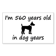 80 dog years black dog 2 Decal