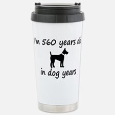 80 dog years black dog 2 Travel Mug