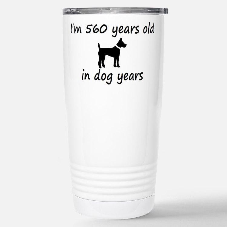 80 dog years black dog 2 Travel Mug