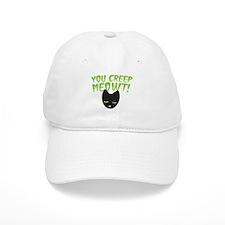 You CREEP MEOWT! funny Halloween black cat Baseball Cap