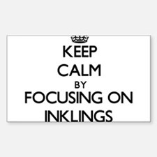 Keep Calm by focusing on Inklings Decal