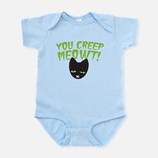You CREEP MEOWT! funny Halloween black cat Body Su