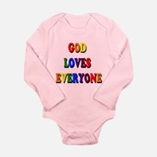 God loves everyone 3-tier Body Suit