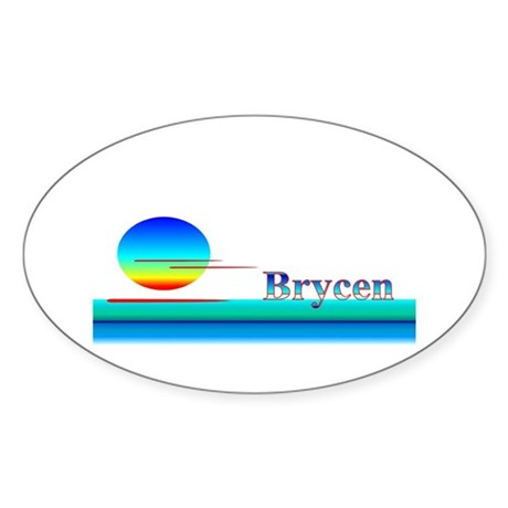 Brycen Oval Sticker