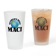 World's Best Maci Drinking Glass