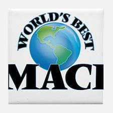 World's Best Maci Tile Coaster