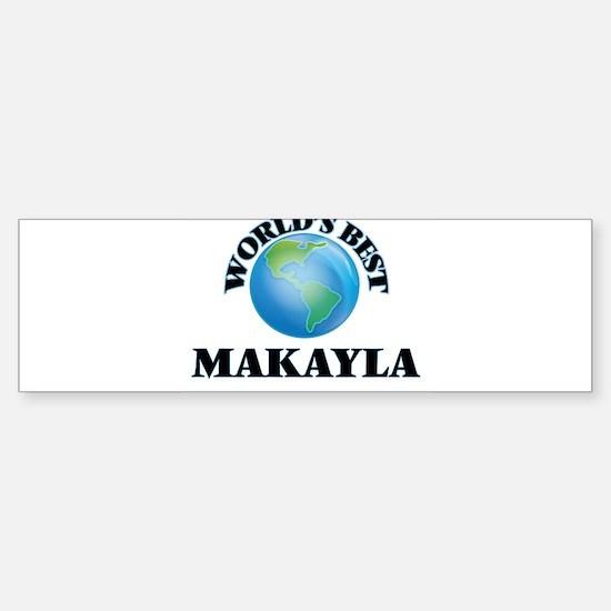 World's Best Makayla Bumper Car Car Sticker