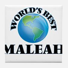 World's Best Maleah Tile Coaster