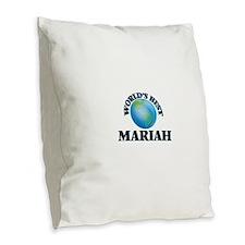 World's Best Mariah Burlap Throw Pillow