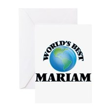 World's Best Mariam Greeting Cards