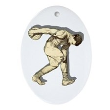 Discus Thrower Ornament (Oval)