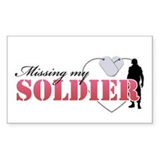 Missing my Soldier Rectangle Decal
