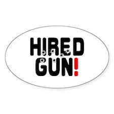 HIRED GUN! Decal