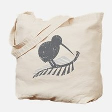kiwi bird on a silver fern Tote Bag