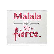 Malala is fierce Throw Blanket