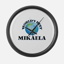World's Best Mikaela Large Wall Clock