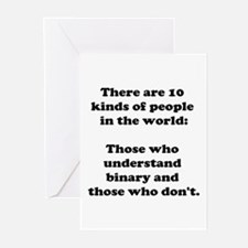 10 Kinds of People<br> Greeting Cards (Package of