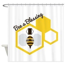 Bee A Blessing Shower Curtain