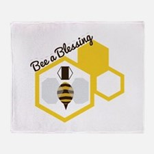 Bee A Blessing Throw Blanket