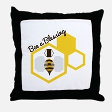 Bee A Blessing Throw Pillow