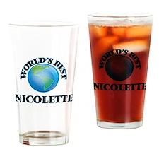 World's Best Nicolette Drinking Glass